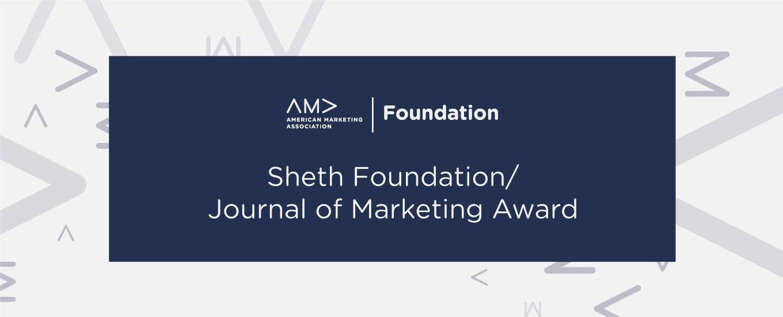 AMAF Sheth Journal Of Marketing Award